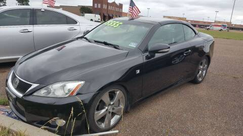 2010 Lexus IS 350C for sale at The Auto Toy Store in Robinsonville MS
