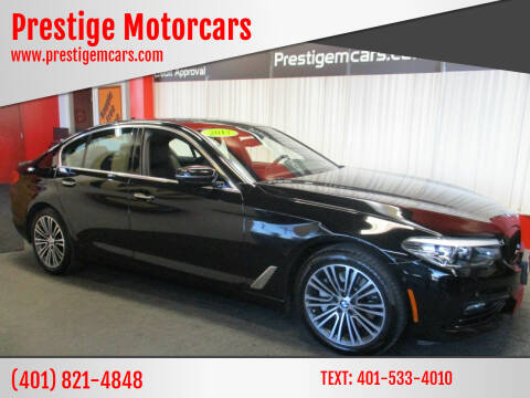 2017 BMW 5 Series for sale at Prestige Motorcars in Warwick RI