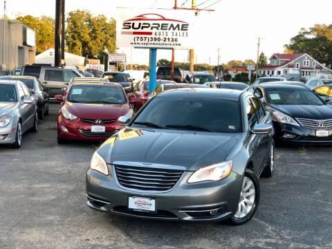 2013 Chrysler 200 for sale at Supreme Auto Sales in Chesapeake VA