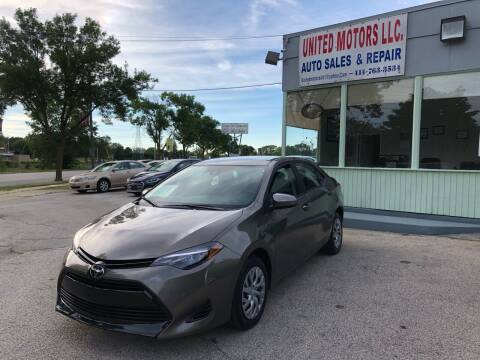2017 Toyota Corolla for sale at United Motors LLC in Saint Francis WI