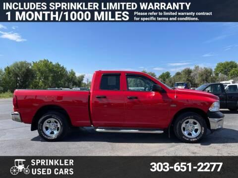 2011 RAM Ram Pickup 1500 for sale at Sprinkler Used Cars in Longmont CO