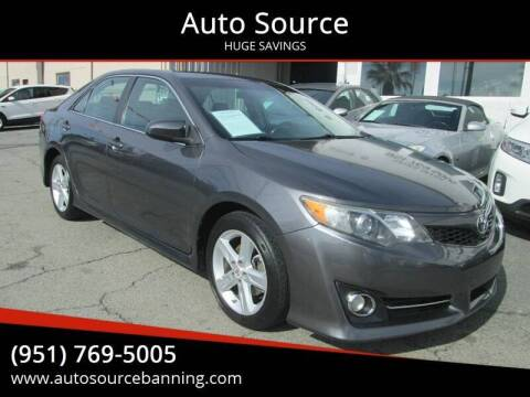2012 Toyota Camry for sale at Auto Source in Banning CA