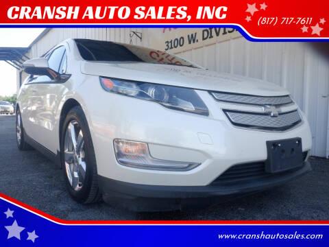 2014 Chevrolet Volt for sale at CRANSH AUTO SALES, INC in Arlington TX