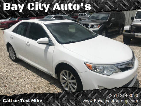 2014 Toyota Camry for sale at Bay City Auto's in Mobile AL