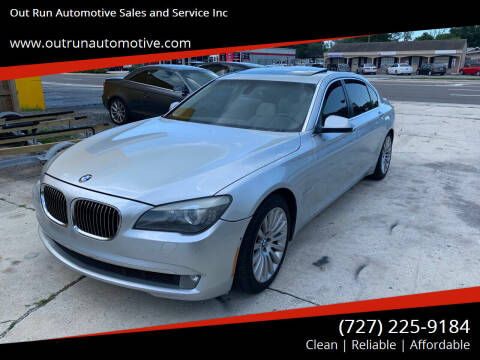 2009 BMW 7 Series for sale at Out Run Automotive Sales and Service Inc in Tampa FL