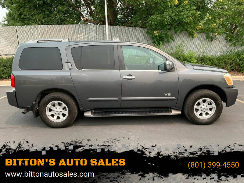 2005 Nissan Armada for sale at BITTON'S AUTO SALES in Ogden UT