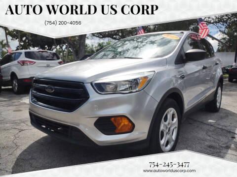 2017 Ford Escape for sale at Auto World US Corp in Plantation FL
