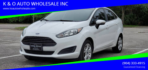 2015 Ford Fiesta for sale at K & O AUTO WHOLESALE INC in Jacksonville FL