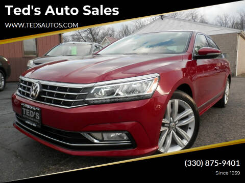 2017 Volkswagen Passat for sale at Ted's Auto Sales in Louisville OH