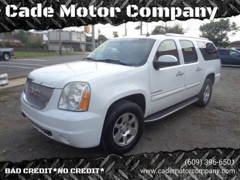 2008 GMC Yukon XL for sale at Cade Motor Company in Lawrence Township NJ