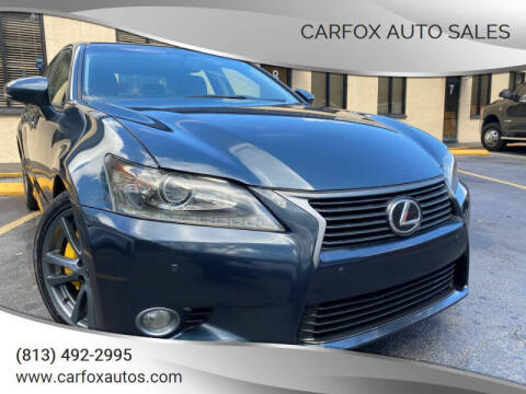2013 Lexus GS 350 for sale at Carfox Auto Sales in Tampa FL