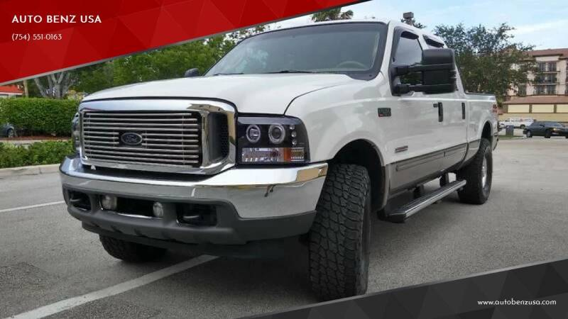 2004 Ford F-250 Super Duty for sale at AUTO BENZ USA in Fort Lauderdale FL