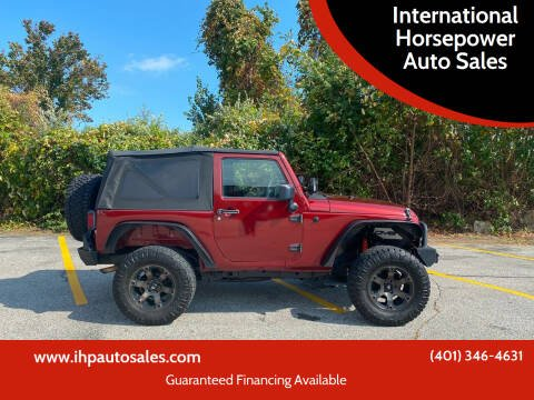 2009 Jeep Wrangler for sale at International Horsepower Auto Sales in Warwick RI