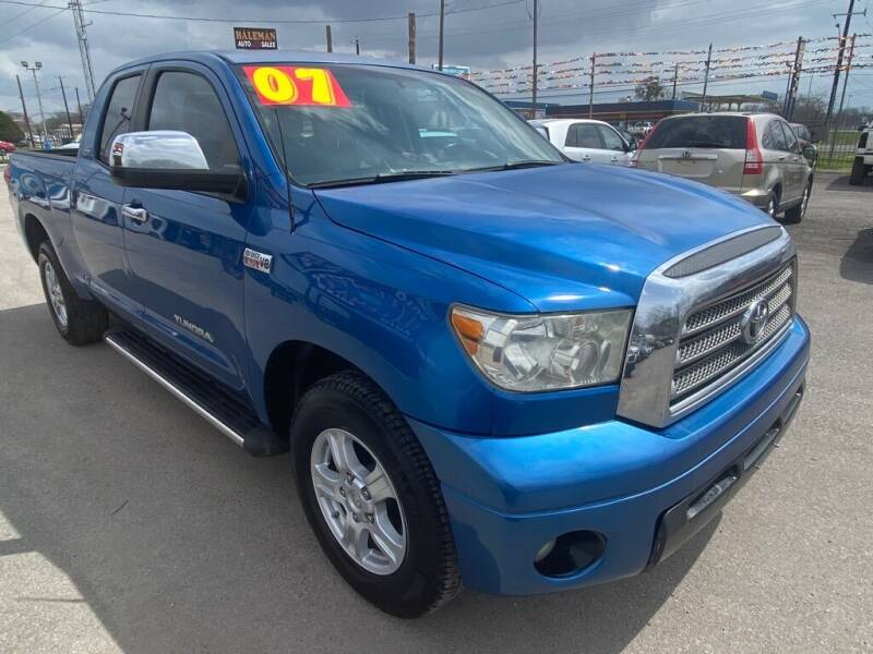 2007 Toyota Tundra for sale at HALEMAN AUTO SALES in San Antonio TX