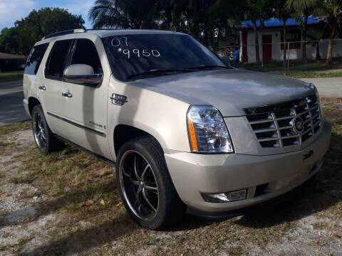 2007 Cadillac Escalade for sale at LAND & SEA BROKERS INC in Deerfield FL