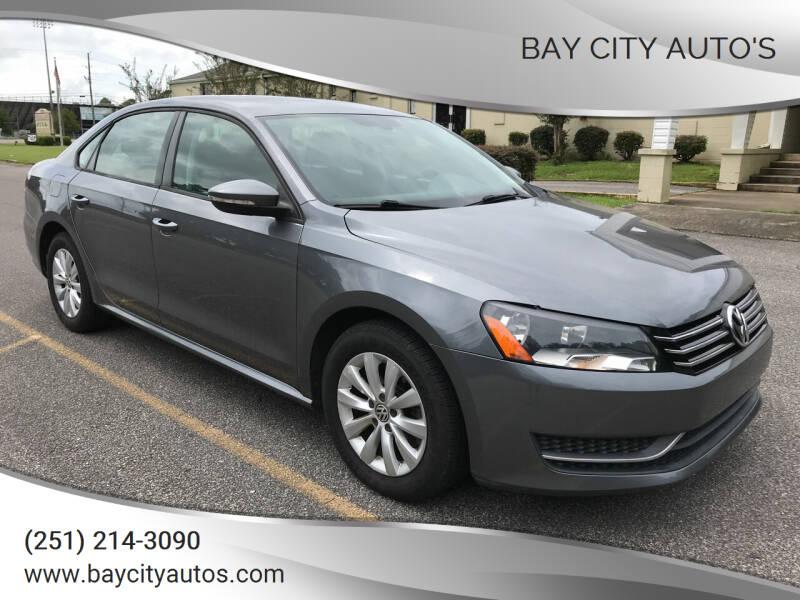 2012 Volkswagen Passat for sale at Bay City Auto's in Mobile AL