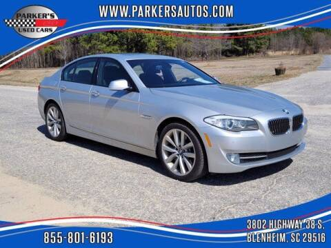 2012 BMW 5 Series for sale at Parker's Used Cars in Blenheim SC