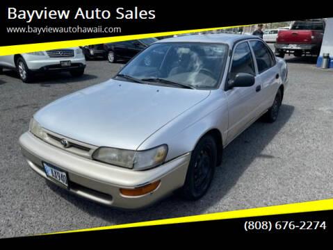 1997 Toyota Corolla for sale at Bayview Auto Sales in Waipahu HI