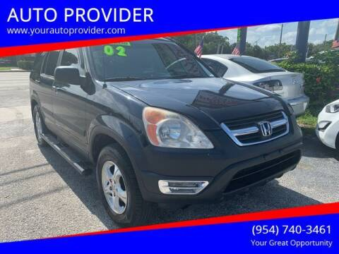 2002 Honda CR-V for sale at AUTO PROVIDER in Fort Lauderdale FL