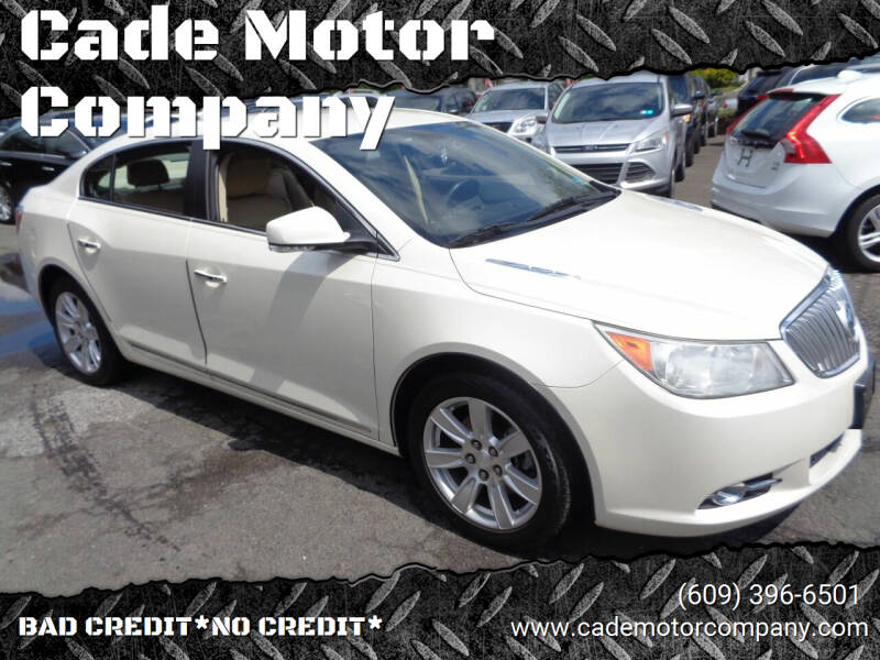 2011 Buick LaCrosse for sale at Cade Motor Company in Lawrenceville NJ