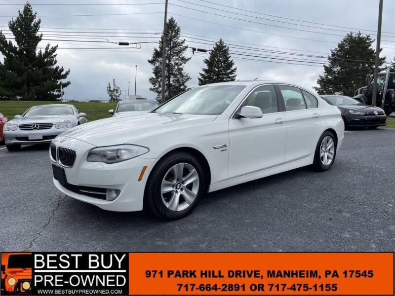 2012 BMW 5 Series for sale at Best Buy Pre-Owned in Manheim PA