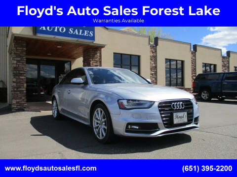 2015 Audi A4 for sale at Floyd's Auto Sales Forest Lake in Forest Lake MN