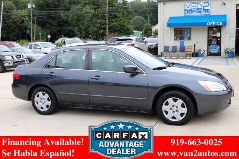 2005 Honda Accord for sale at Van 2 Auto Sales Inc in Siler City NC