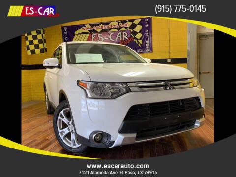 2015 Mitsubishi Outlander for sale at Escar Auto - 9809 Montana Ave Lot in El Paso TX