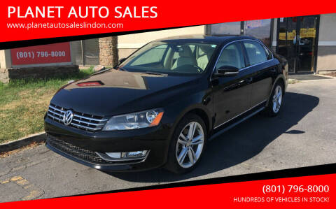 2014 Volkswagen Passat for sale at PLANET AUTO SALES in Lindon UT