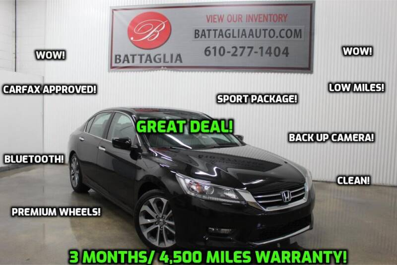 2014 Honda Accord for sale at Battaglia Auto Sales in Plymouth Meeting PA