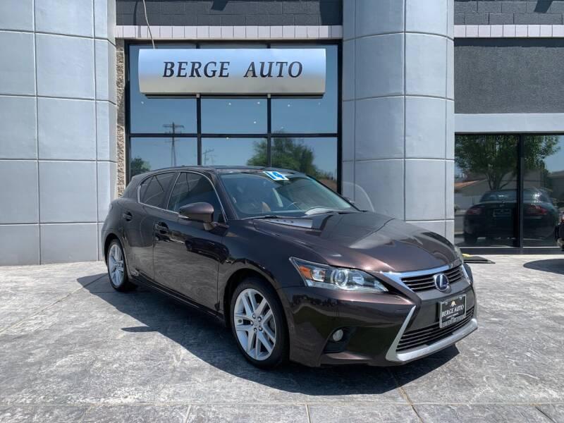 2014 Lexus CT 200h for sale at Berge Auto in Orem UT