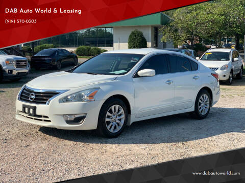 2015 Nissan Altima for sale at DAB Auto World & Leasing in Wake Forest NC
