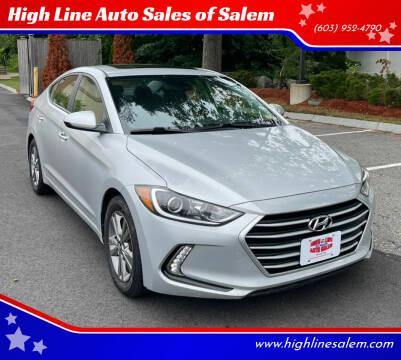 2018 Hyundai Elantra for sale at High Line Auto Sales of Salem in Salem NH