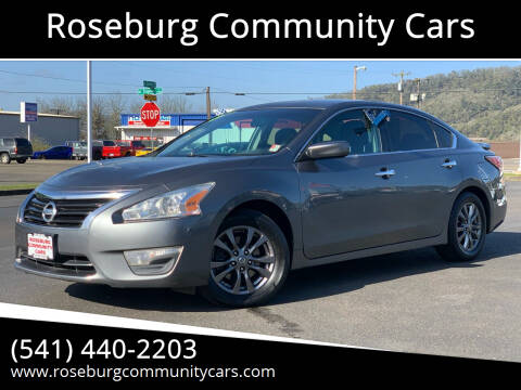 2015 Nissan Altima for sale at Roseburg Community Cars in Roseburg OR