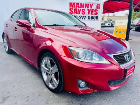 2012 Lexus IS 250 for sale at Manny G Motors in San Antonio TX