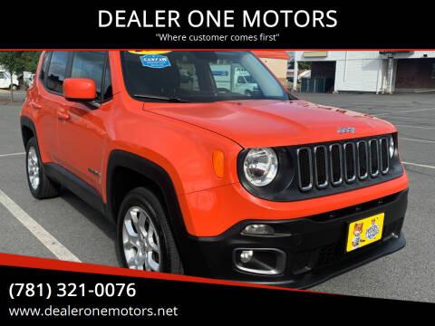 2015 Jeep Renegade for sale at DEALER ONE MOTORS in Malden MA