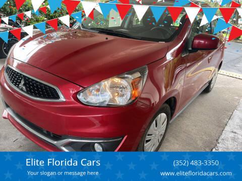 2019 Mitsubishi Mirage for sale at Elite Florida Cars in Tavares FL