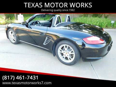 2007 Porsche Boxster for sale at TEXAS MOTOR WORKS in Arlington TX