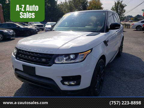2015 Land Rover Range Rover Sport for sale at A-Z Auto Sales in Newport News VA