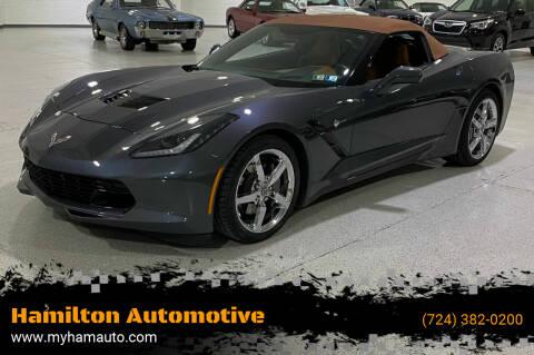 2014 Chevrolet Corvette for sale at Hamilton Automotive in North Huntingdon PA