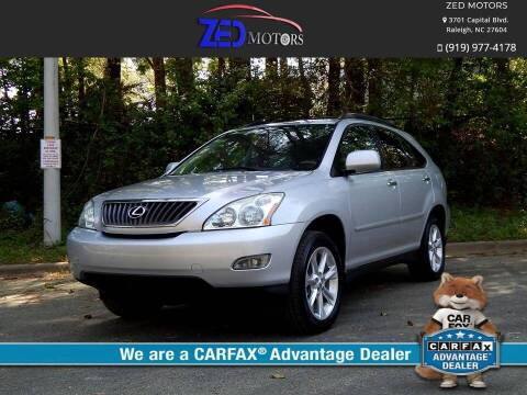 2009 Lexus RX 350 for sale at Zed Motors in Raleigh NC