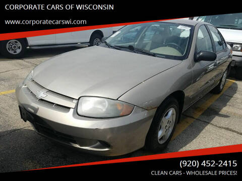 Chevrolet Cavalier For Sale In Sheboygan Wi Corporate Cars Of Wisconsin