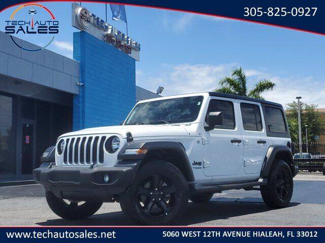2020 Jeep Wrangler Unlimited for sale at Tech Auto Sales in Hialeah FL