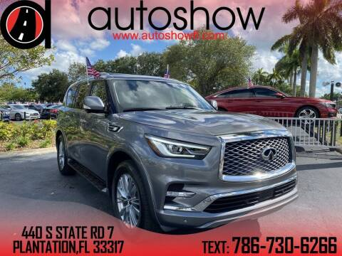 2019 Infiniti QX80 for sale at AUTOSHOW SALES & SERVICE in Plantation FL