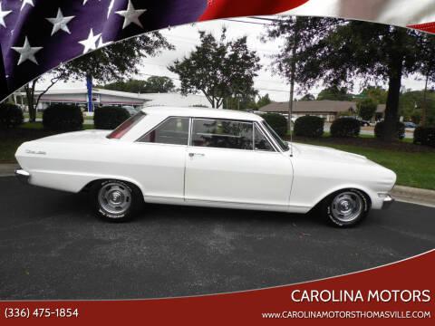 1963 Chevrolet Nova for sale at CAROLINA MOTORS in Thomasville NC