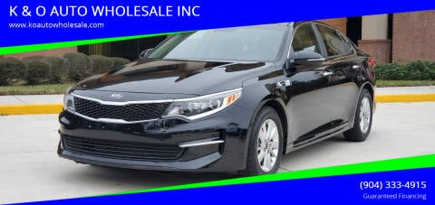 2017 Kia Optima for sale at K & O AUTO WHOLESALE INC in Jacksonville FL