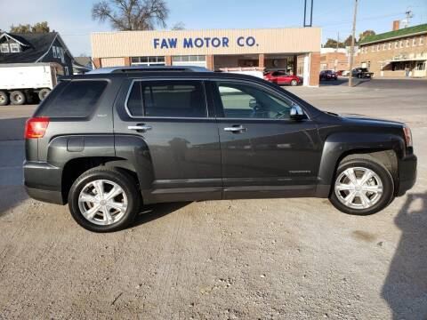 2017 GMC Terrain for sale at Faw Motor Co in Cambridge NE