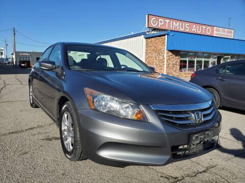 2012 Honda Accord for sale at Optimus Auto in Omaha NE