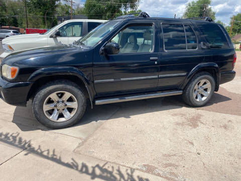 2002 Nissan Pathfinder for sale at PYRAMID MOTORS AUTO SALES in Florence CO