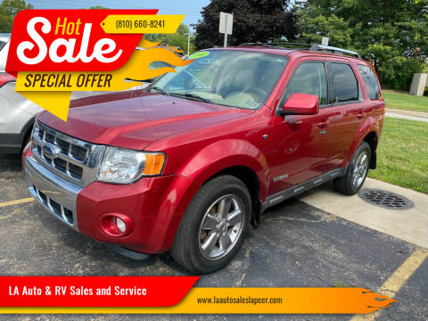 2008 Ford Escape for sale at LA Auto & RV Sales and Service in Lapeer MI